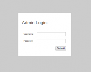 The backend is password protected with users